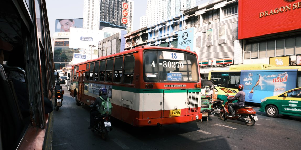 Riding Bus Bangkok